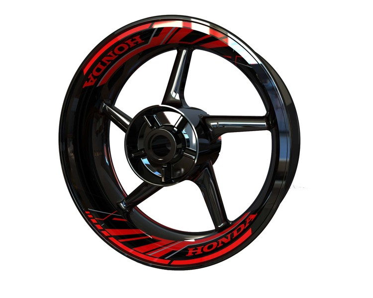 Honda Rim Stickers 2-piece (Front & Rear - Both Sides Included)