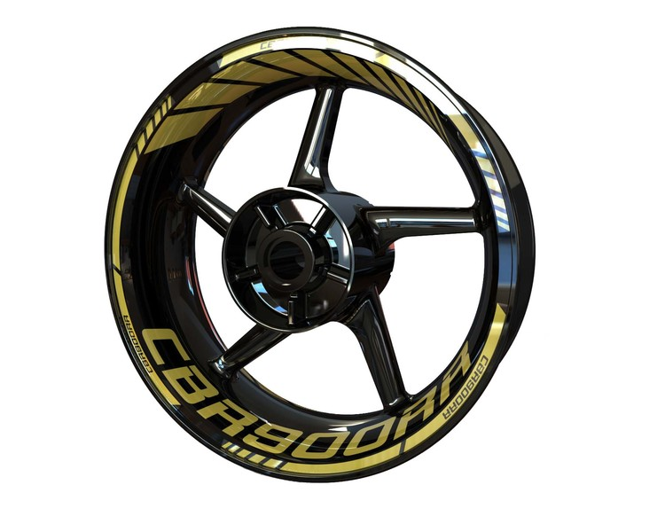 Honda CBR900RR Wheel Stickers Standard (Front & Rear - Both Sides Included)