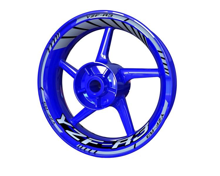 Yamaha YZF-R3 Wheel Stickers kit - Standard Design
