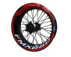 Honda FMX650 Wheel Stickers kit - Standard Design