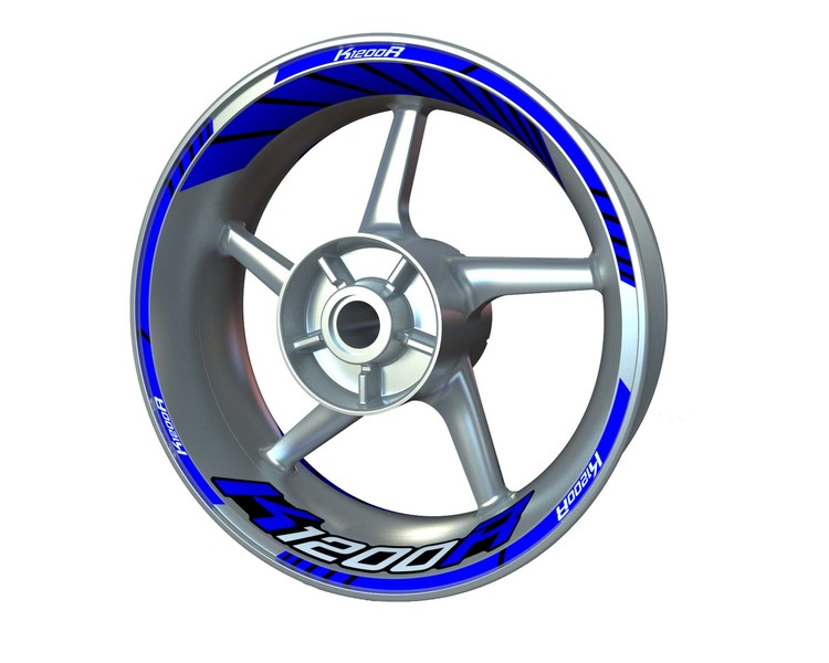 BMW K1200R Wheel Stickers Standard (Front & Rear - Both Sides Included)