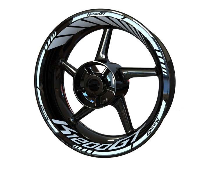 BMW K1200GT Wheel Stickers Standard (Front & Rear - Both Sides Included)
