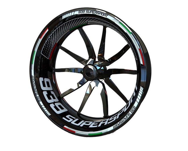 Ducati 939 Supersport Wheel Stickers Plus (Front & Rear - Both Sides Included)