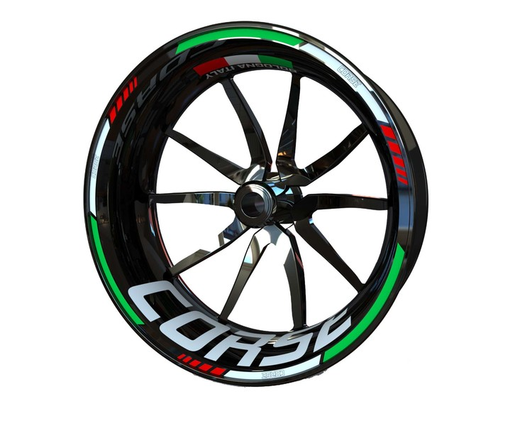 Ducati CORSE Wheel Stickers Standard (Front & Rear - Both Sides Included)