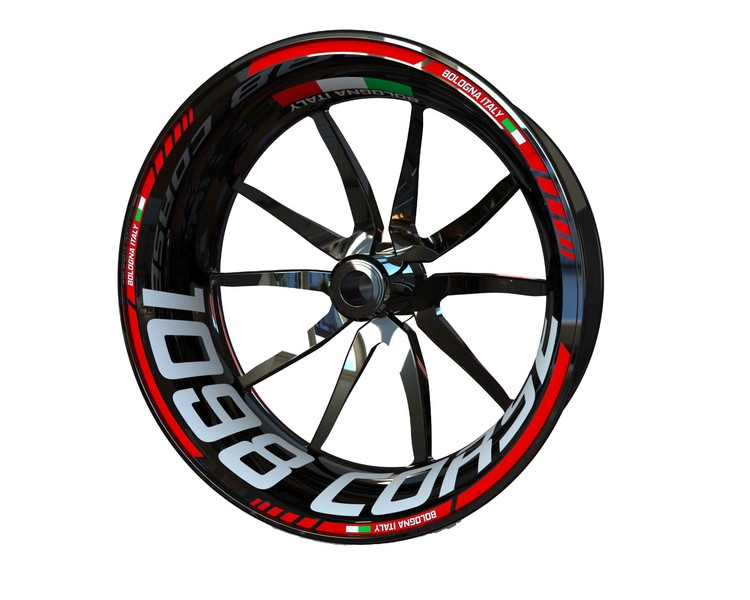 Ducati 1098 Corse Wheel Stickers Standard (Front & Rear - Both Sides Included)
