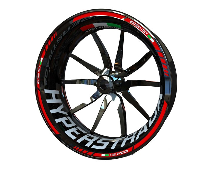 Ducati Hyperstrada Wheel Stickers Standard (Front & Rear - Both Sides Included)