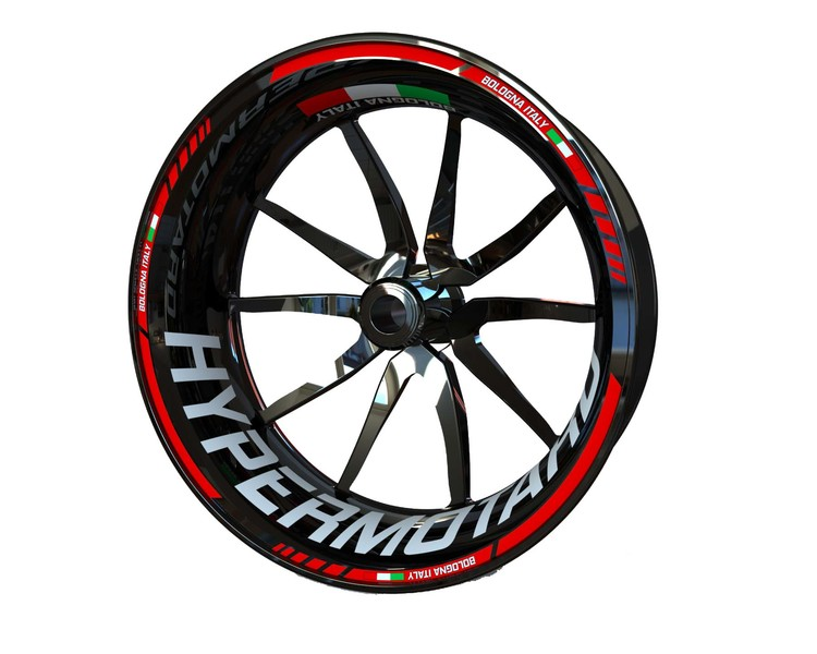 Ducati Hypermotard Wheel Stickers Standard (Front & Rear - Both Sides Included)