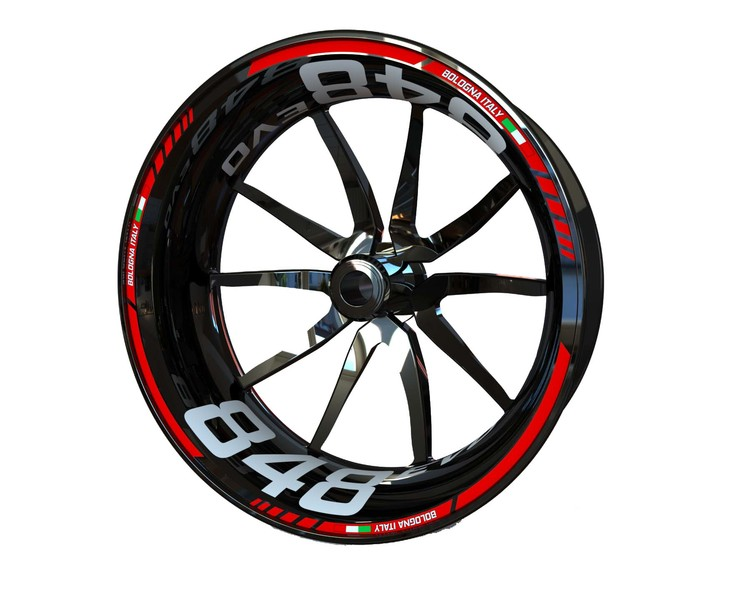 Ducati 848 EVO Wheel Stickers Standard (Front & Rear - Both Sides Included)