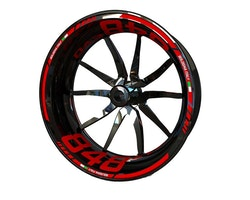 Ducati 848 EVO Wheel Stickers kit - Standard Design