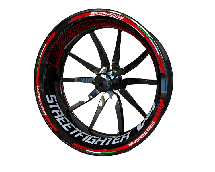 Ducati Streetfighter V4 Wheel Stickers Plus (Front & Rear - Both Sides Included)