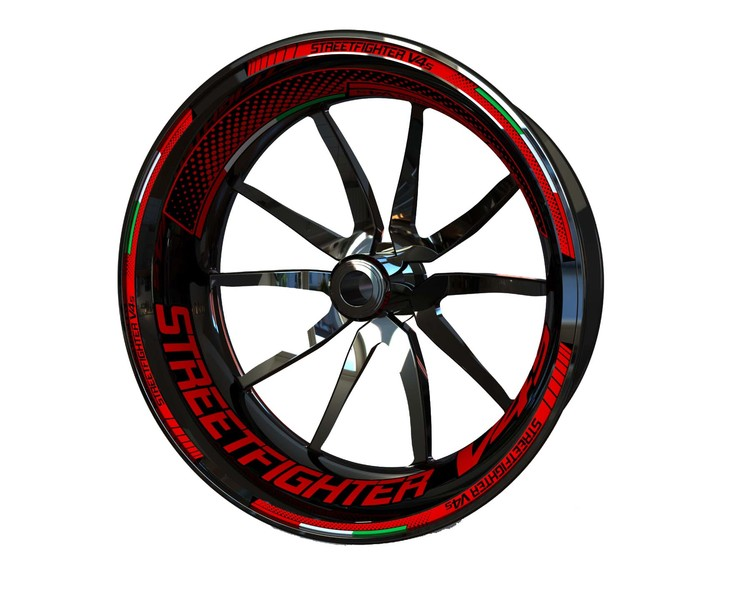 Ducati Streetfighter V4S Wheel Stickers Plus (Front & Rear - Both Sides Included)