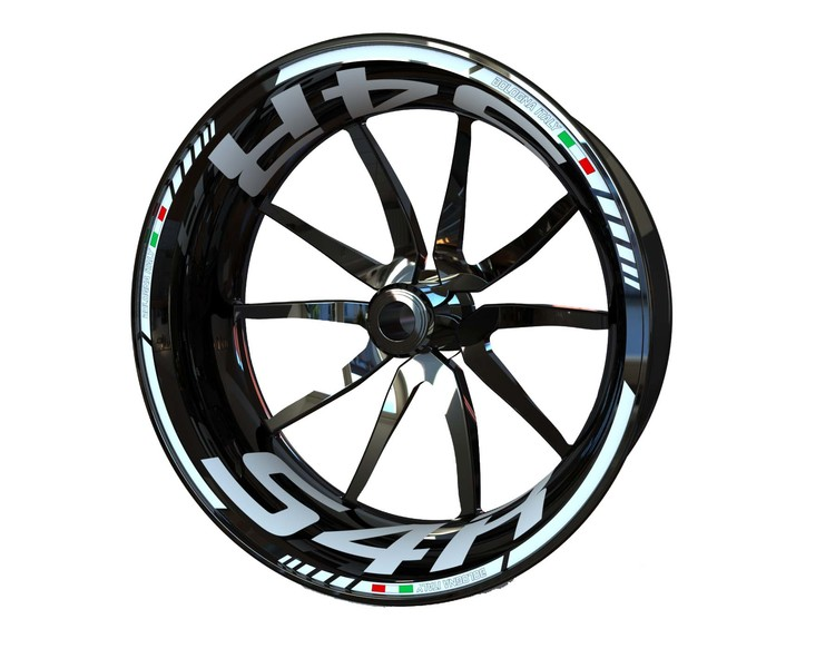 Ducati S4R Wheel Stickers Standard (Front & Rear - Both Sides Included)