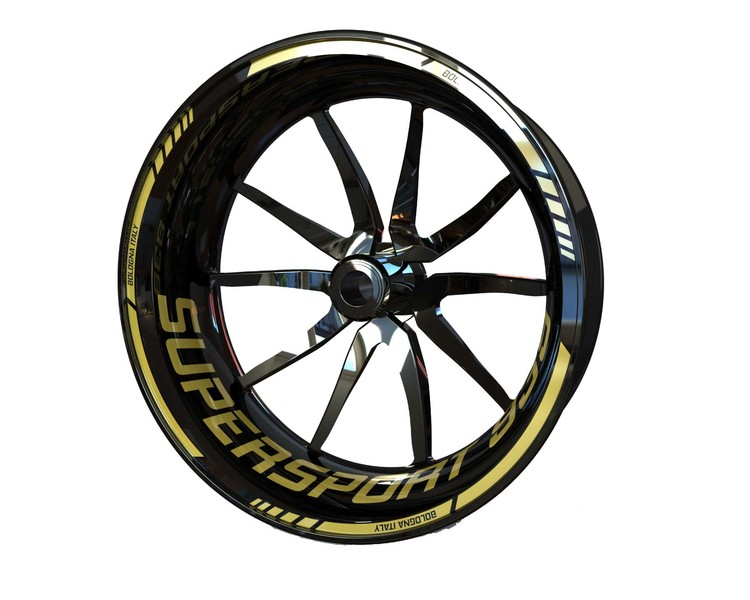Ducati 939 SuperSport Wheel Stickers Standard (Front & Rear - Both Sides Included)