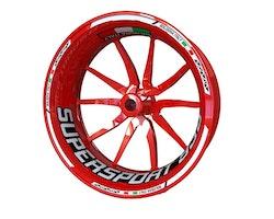 Ducati 939 SuperSport Wheel Stickers kit - Standard Design