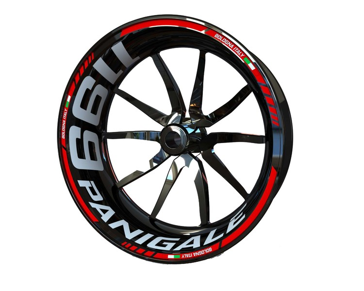 Ducati 1199 Panigale Wheel Stickers Standard (Front & Rear - Both Sides Included)