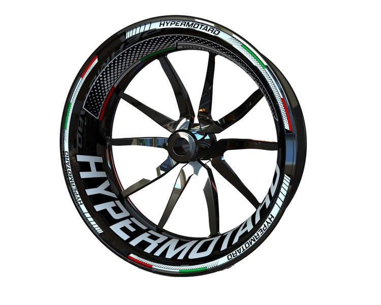 Ducati Hypermotard Wheel Stickers Plus (Front & Rear - Both Sides Included)