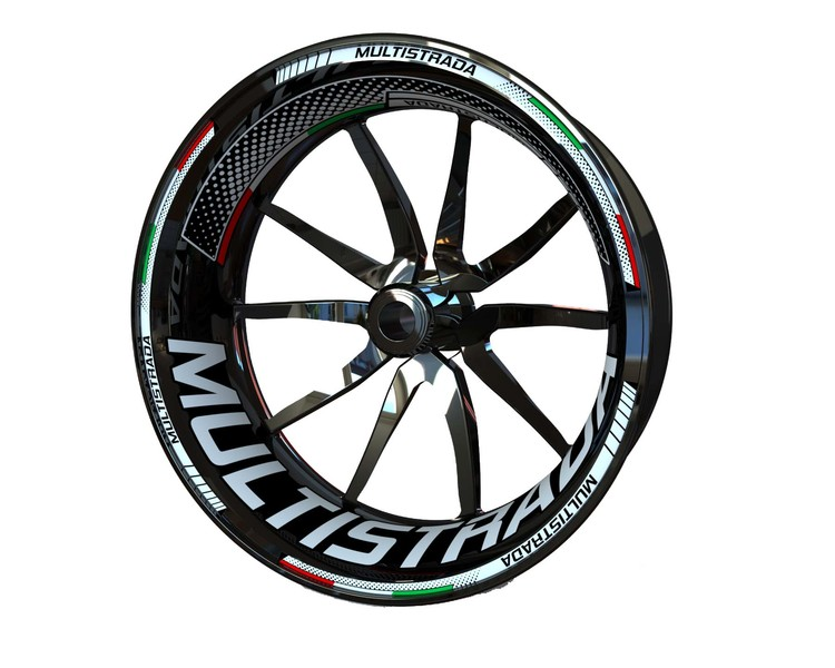 Ducati Multistrada Wheel Stickers Plus (Front & Rear - Both Sides Included)