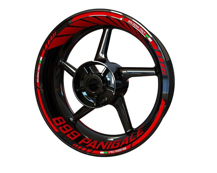 Ducati 899 Panigale Wheel Stickers Standard (Front & Rear - Both Sides Included)