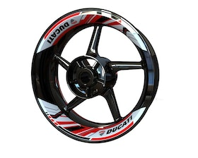 Rim Stickers 2-piece - Ducati Double Swingarm