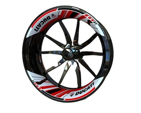 Ducati Rim Stickers 2-piece (Single Swingarm) (Front & Rear - Both Sides Included)