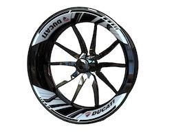 Ducati Wheel Stickers kit - 2-Piece Design (Single Swingarm)