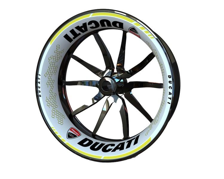 Ducati Wheel Stickers kit - Premium Design (Single Swingarm)