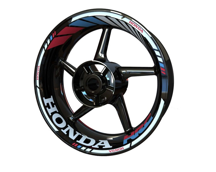 Honda HRC Racing Wheel Stickers Standard (Front & Rear - Both Sides Included)