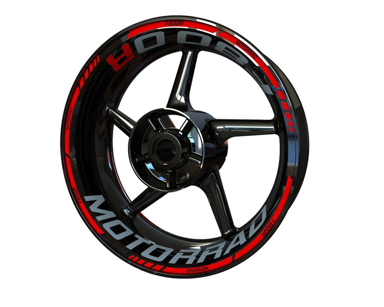 BMW F800R Wheel Stickers Standard (Front & Rear - Both Sides Included)