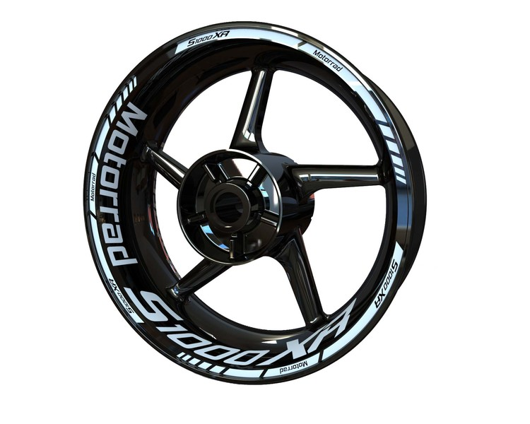 BMW S1000XR Motorrad Wheel Stickers Standard (Front & Rear - Both Sides Included)