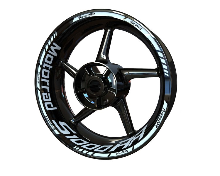 BMW S1000RR Motorrad Wheel Stickers Standard (Front & Rear - Both Sides Included)