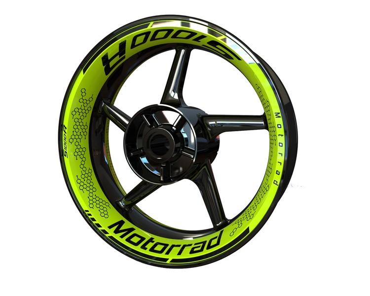 BMW S1000R Wheel Stickers kit - Premium Design