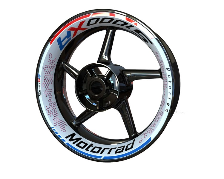 BMW S1000XR Wheel Stickers kit - Premium Design