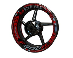 BMW F900R Wheel Stickers kit - Plus Design