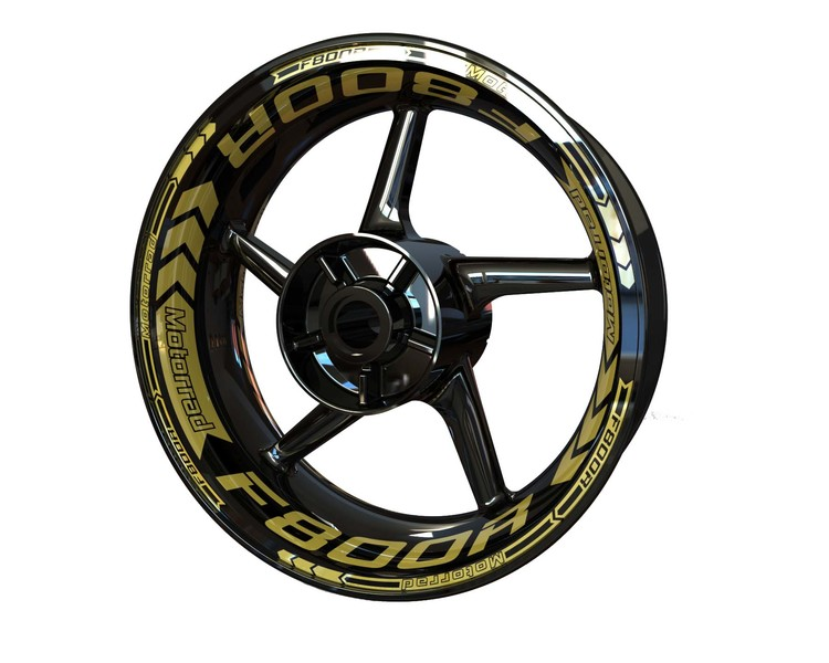 BMW F800R Wheel Stickers Plus (Front & Rear - Both Sides Included)