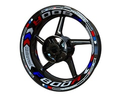 BMW F800R Wheel Stickers kit - Plus Design