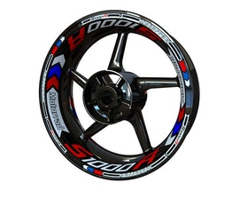 BMW S1000R Wheel Stickers Plus (Front & Rear - Both Sides Included)