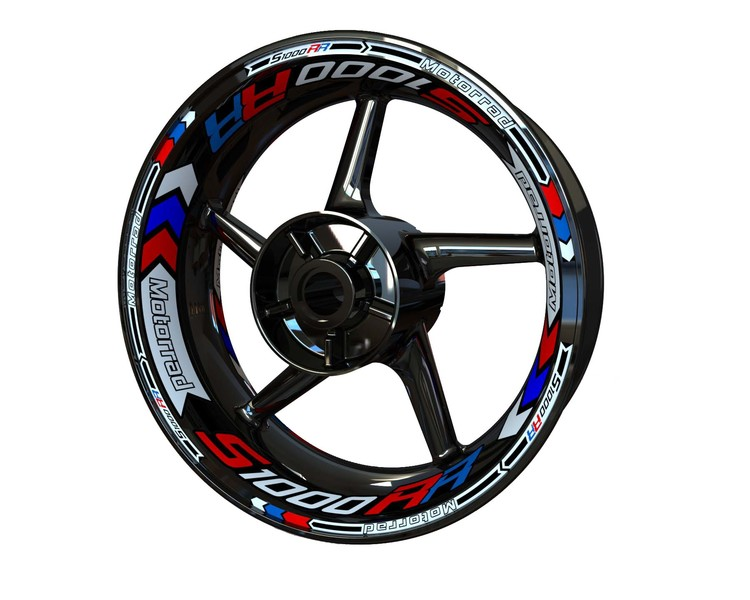 BMW S1000RR Wheel Stickers Plus (Front & Rear - Both Sides Included)