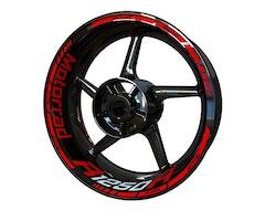 BMW R1250R Motorrad Wheel Stickers kit - Standard Design