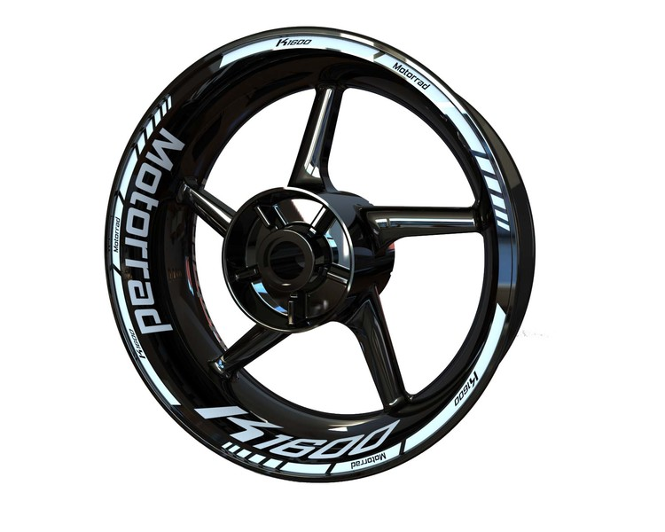 BMW K1600 Wheel Stickers Standard (Front & Rear - Both Sides Included)