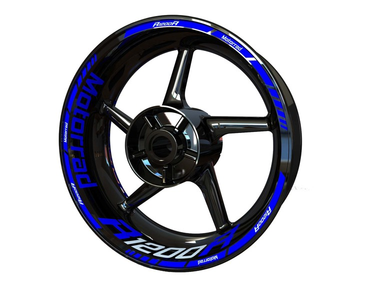 BMW R1200R Wheel Stickers Standard (Front & Rear - Both Sides Included)