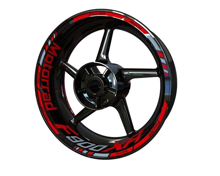 BMW F900XR Motorrad Wheel Stickers kit - Standard Design