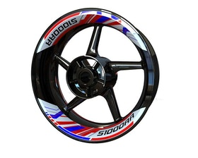 BMW S1000RR Rim Stickers 2-piece (Front & Rear - Both Sides Included)