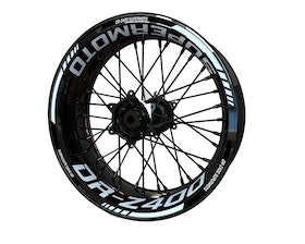 Suzuki DR-Z 400 Supermoto Wheel Stickers Standard (Front & Rear - Both Sides Included)
