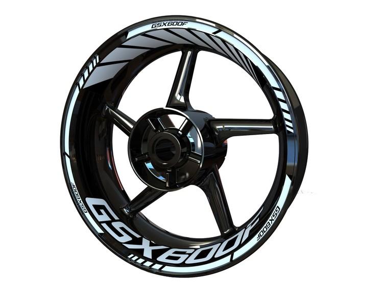 Suzuki GSX 600F Wheel Stickers Standard (Front & Rear - Both Sides Included)