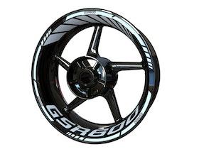 Suzuki GSR600 Wheel Stickers Standard (Front & Rear - Both Sides Included)