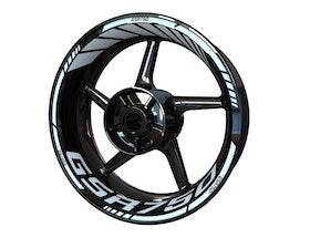 Suzuki GSR750 Wheel Stickers Standard (Front & Rear - Both Sides Included)