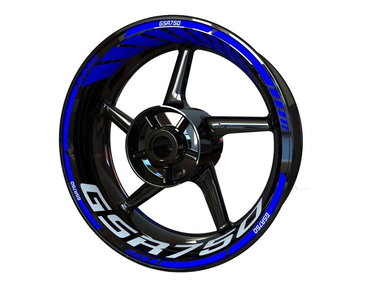 Suzuki GSR750 Wheel Stickers kit - Standard Design