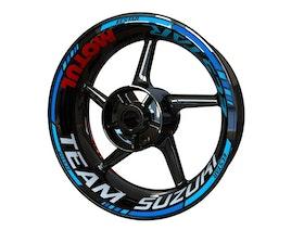 Team Suzuki Ecstar MotoGP Edition Wheel Stickers Standard (Front & Rear - Both Sides Included)