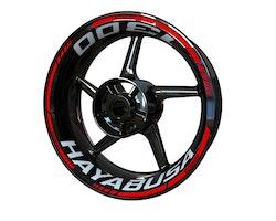 Suzuki Hayabusa 1300 Wheel Stickers kit - Standard Design