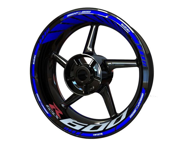 Suzuki GSX-R 600 Wheel Stickers kit - Standard Design